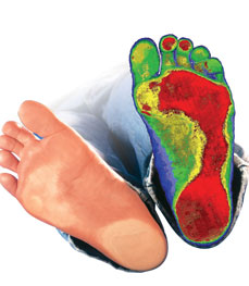 Chiropractic Independence MO Digital Foot Scan